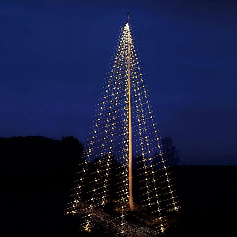 julgran till flaggstång